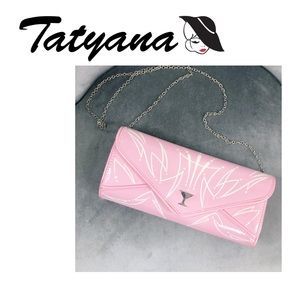 New Tatyana Pink Tiki Martini 1950's Clutch Purse